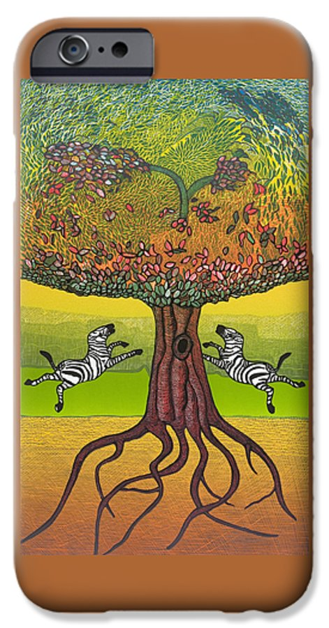 Landscape IPhone 6 Case featuring the mixed media The Life-giving Tree. by Jarle Rosseland