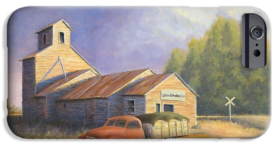 Nebraska IPhone 6 Case featuring the painting The Lisco Elevator by Jerry McElroy