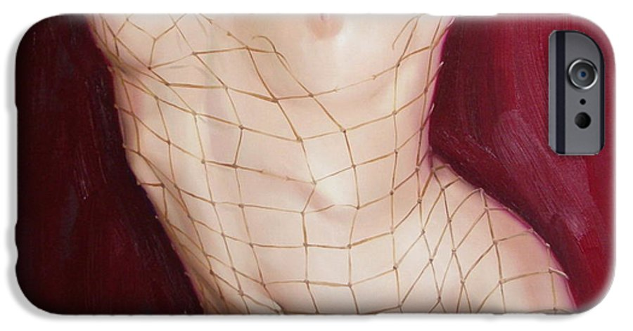 Art IPhone 6 Case featuring the painting The Love In Net by Sergey Ignatenko