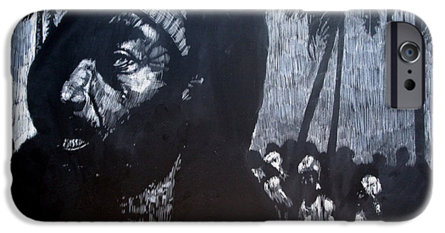 Meet IPhone 6 Case featuring the mixed media The Meeting by Chester Elmore