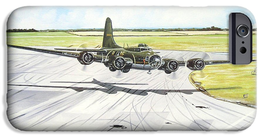 Military IPhone 6 Case featuring the painting The Memphis Belle by Marc Stewart