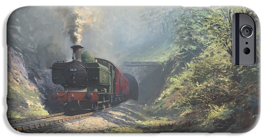Steam IPhone 6 Case featuring the painting The Merthyr Tunnel by Richard Picton