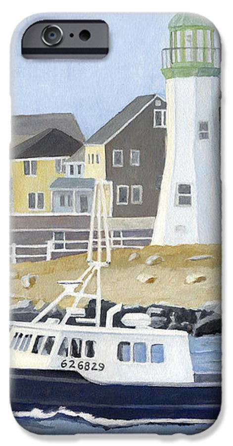 Fishingboat IPhone 6 Case featuring the painting The Michael Brandon by Dominic White