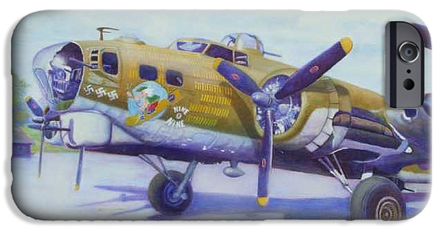 B-17 IPhone 6 Case featuring the painting The Nine O Nine by Scott Robertson