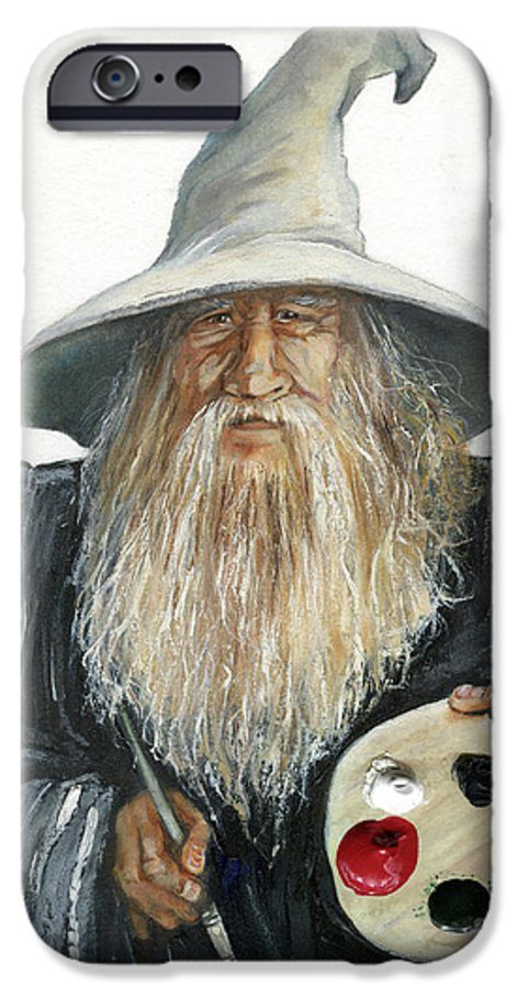 Wizard IPhone 6 Case featuring the painting The Painting Wizard by J W Baker