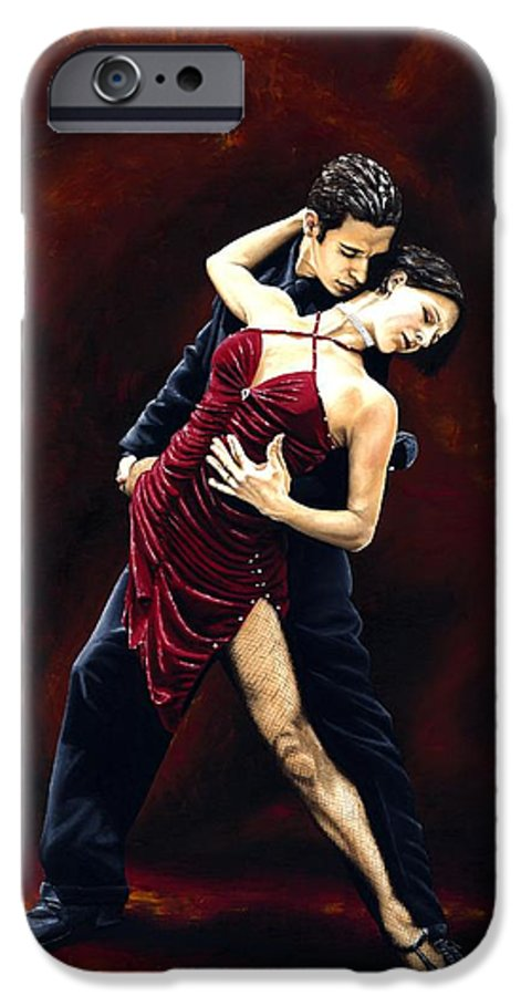 Tango IPhone 6 Case featuring the painting The Passion Of Tango by Richard Young
