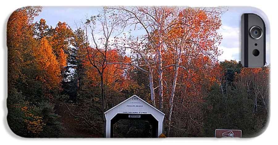 Landscape IPhone 6 Case featuring the photograph The Phillips Covered Bridge by John McAllister