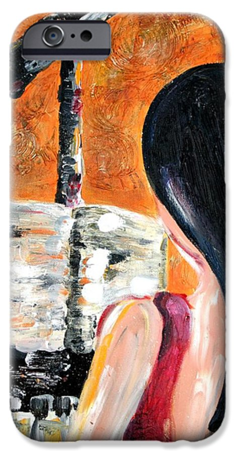 Piano IPhone 6 Case featuring the painting The Pianist by Maryn Crawford