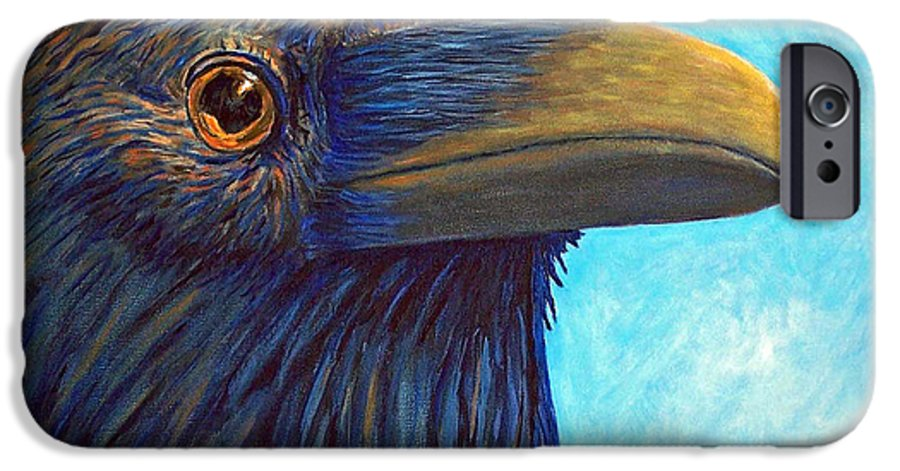Raven IPhone 6 Case featuring the painting The Prophet by Brian Commerford