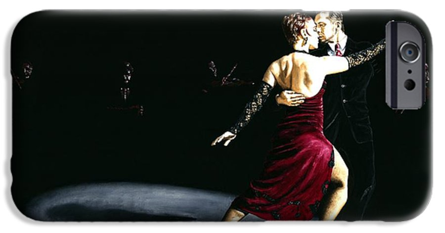 Tango IPhone 6 Case featuring the painting The Rhythm Of Tango by Richard Young