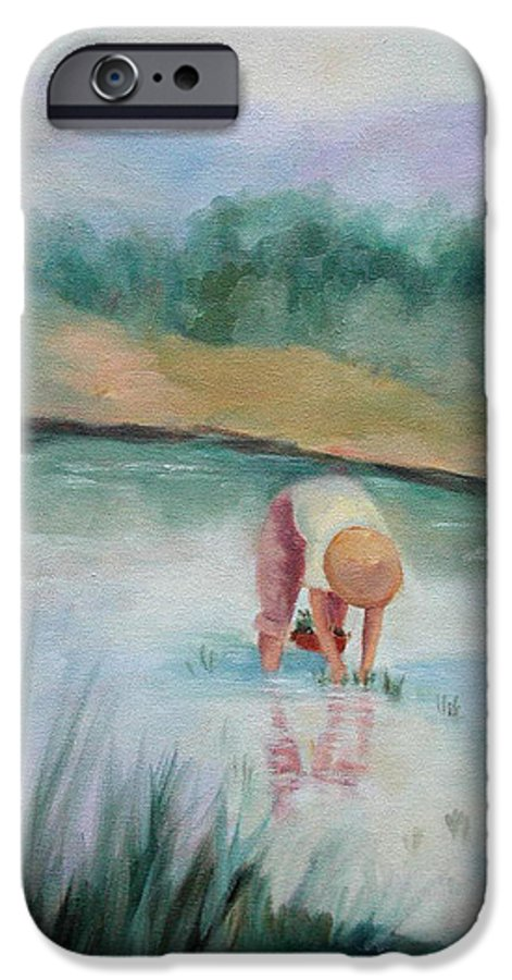 Figurative IPhone 6 Case featuring the painting The Rice Planter by Ginger Concepcion