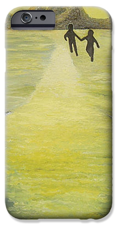 Soul IPhone 6 Case featuring the painting The Road In The Ocean Of Light by Karina Ishkhanova
