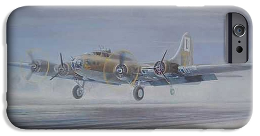 The Only Survivor Of The 100th Bomb Group On The October 10 IPhone 6 Case featuring the painting The Royal Flush Comes Home by Scott Robertson