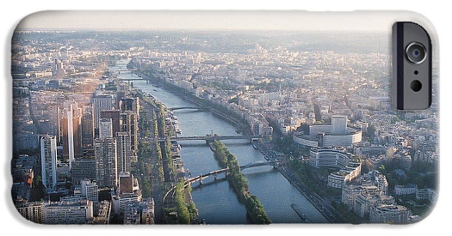 City IPhone 6 Case featuring the photograph The Seine River In Paris by Nadine Rippelmeyer