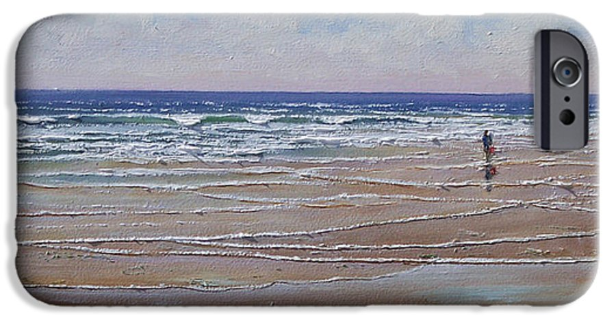 Seascape IPhone 6 Case featuring the painting The Shell Collector by Frank Wilson