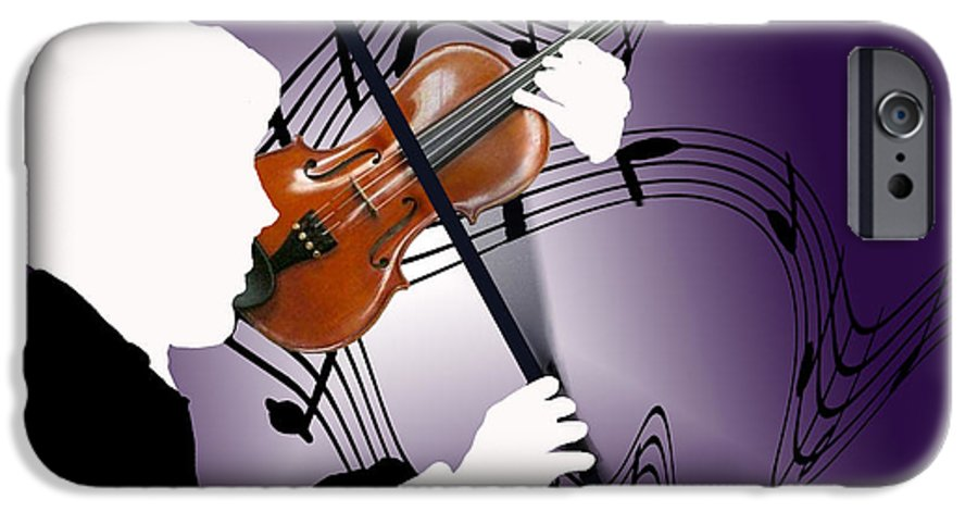 Violin IPhone 6 Case featuring the digital art The Soloist by Steve Karol