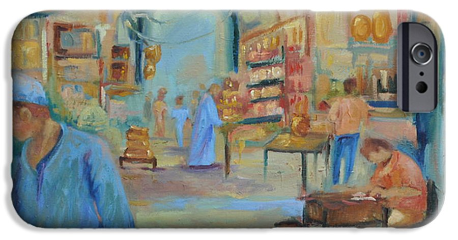 Figurative IPhone 6 Case featuring the painting The Souk by Ginger Concepcion