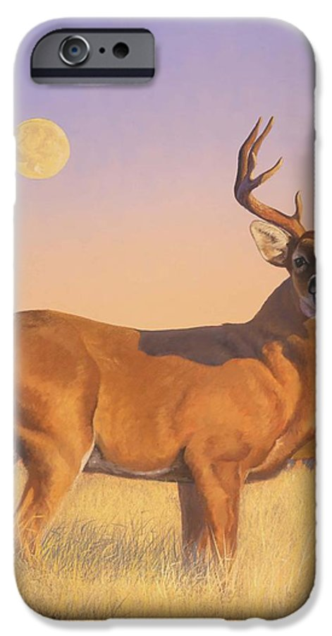 Deer IPhone 6 Case featuring the painting The Stag by Howard Dubois