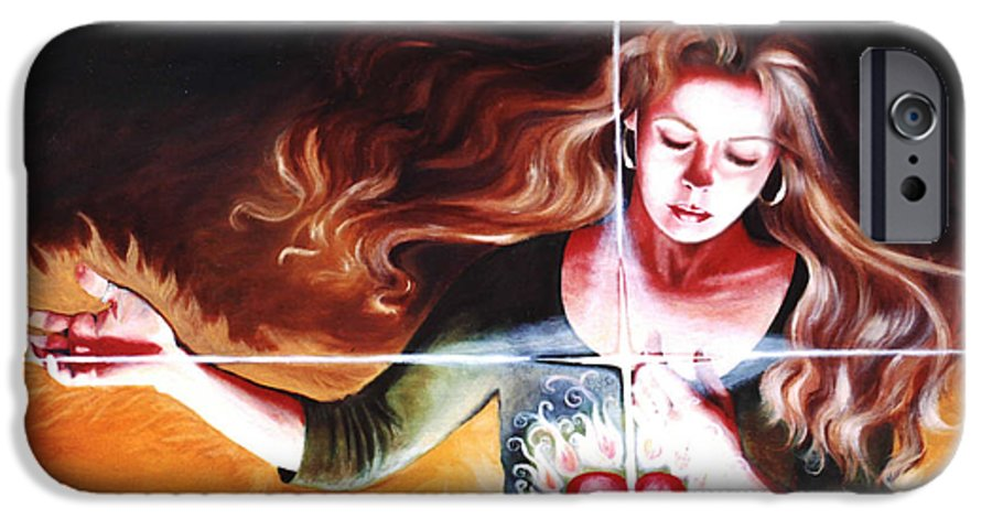 Christian IPhone 6 Case featuring the painting The Stirring by Teresa Carter