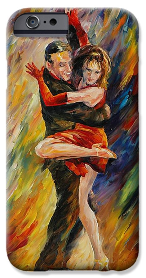 Dance IPhone 6 Case featuring the painting The Sublime Tango by Leonid Afremov