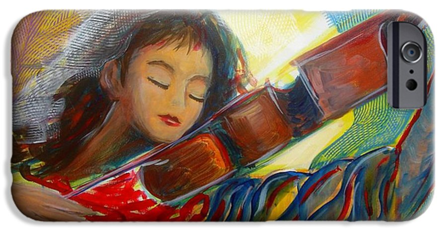 Violin IPhone 6 Case featuring the painting The Sweetest Sounds by Regina Walsh