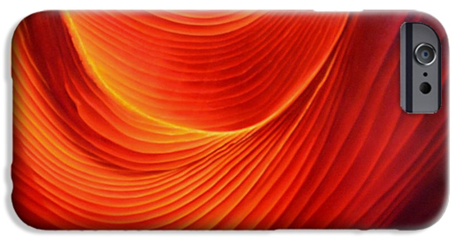 Antelope Canyon IPhone 6 Case featuring the painting The Swirl by Anni Adkins