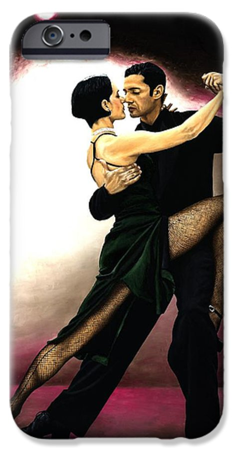 Tango IPhone 6 Case featuring the painting The Temptation Of Tango by Richard Young