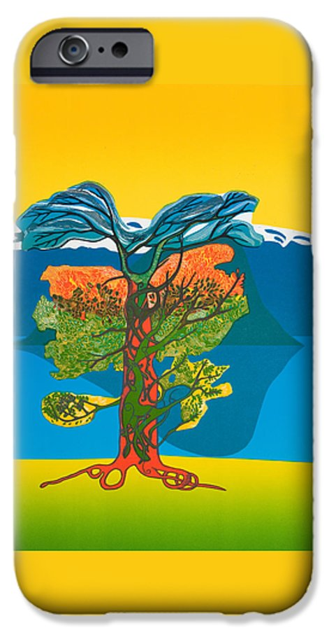 Landscape IPhone 6 Case featuring the mixed media The Tree Of Life. From The Viking Saga. by Jarle Rosseland