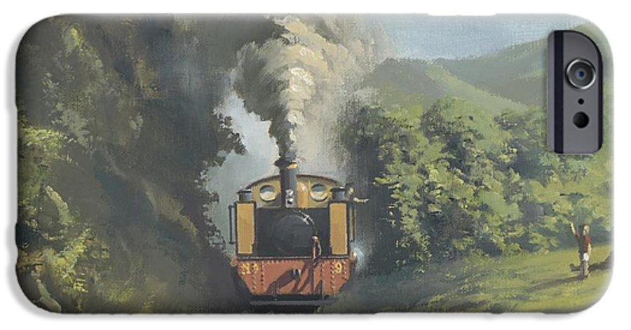 Steam IPhone 6 Case featuring the painting The Vale Of Rheidol Railway by Richard Picton