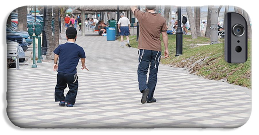 Man IPhone 6 Case featuring the photograph The Walk by Rob Hans