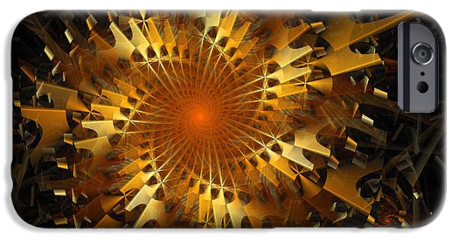 Digital Art IPhone 6 Case featuring the digital art The Wheels Of Time by Amanda Moore
