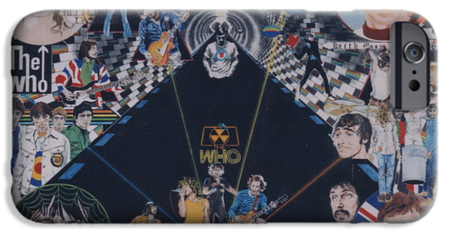 Pete Townshend;roger Daltrey;john Entwistle;keith Moon;quadrophenia;opera;story;four;music;guitars;lasers;mods;rockers;london;brighton;1964 IPhone 6 Case featuring the drawing The Who - Quadrophenia by Sean Connolly