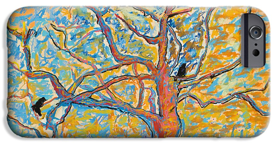 Abstract Painting IPhone 6 Case featuring the mixed media The Wind Dancers by Pat Saunders-White