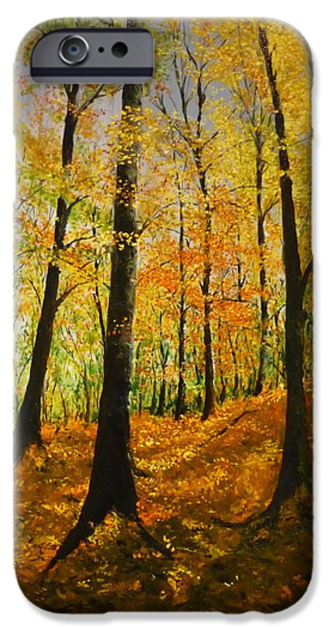 Fall IPhone 6 Case featuring the painting The Wood For The Trees by Lizzy Forrester