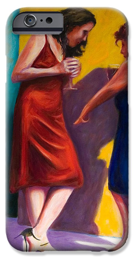 Figurative IPhone 6 Case featuring the painting There by Shannon Grissom