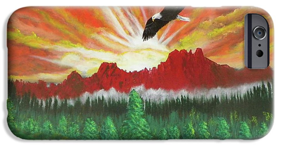 Acrylic IPhone 6 Case featuring the painting They That Wait Upon The Lord  Isa 40 31 by Laurie Kidd