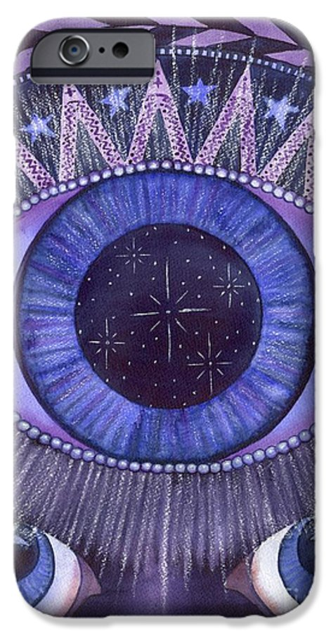 Thrid Eye IPhone 6 Case featuring the painting Third Eye Chakra by Catherine G McElroy