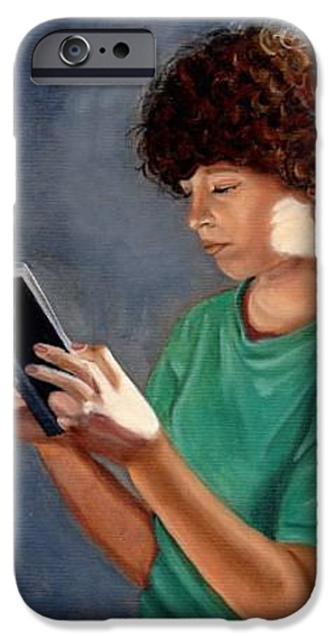 Portrait IPhone 6 Case featuring the painting Thirst For Knowledge by Toni Berry