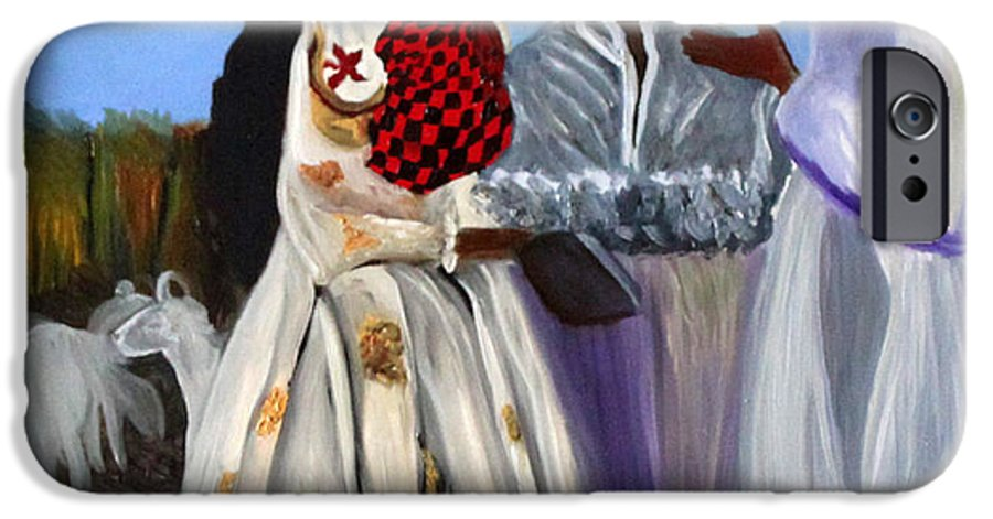 IPhone 6 Case featuring the painting Three African Women by Pilar Martinez-Byrne