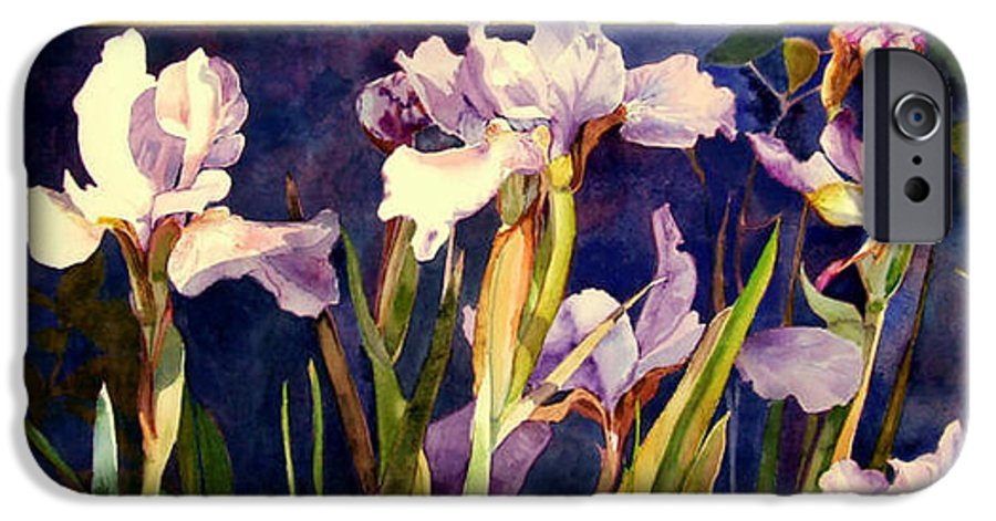 Irises IPhone 6 Case featuring the painting Three Gossips by Linda Marie Carroll