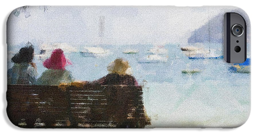 Impressionism Impressionist Water Boats Three Ladies Seat IPhone 6 Case featuring the photograph Three Ladies by Avalon Fine Art Photography