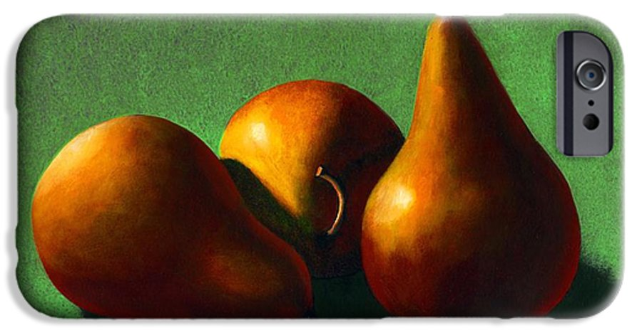 Still Life IPhone 6 Case featuring the painting Three Yellow Pears by Frank Wilson