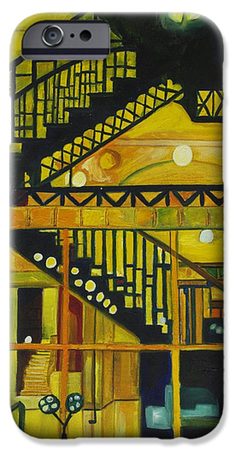 Abstract IPhone 6 Case featuring the painting Through Parisian Glass by Patricia Arroyo