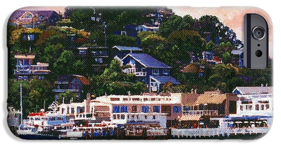 Landscape IPhone 6 Case featuring the painting Tiburon California Waterfront by Frank Wilson