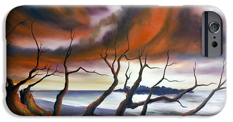 Marsh IPhone 6 Case featuring the painting Tideland by James Christopher Hill