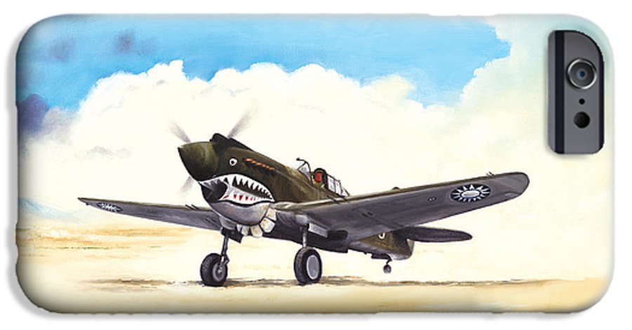 Aviation IPhone 6 Case featuring the painting Tiger Scramble by Marc Stewart