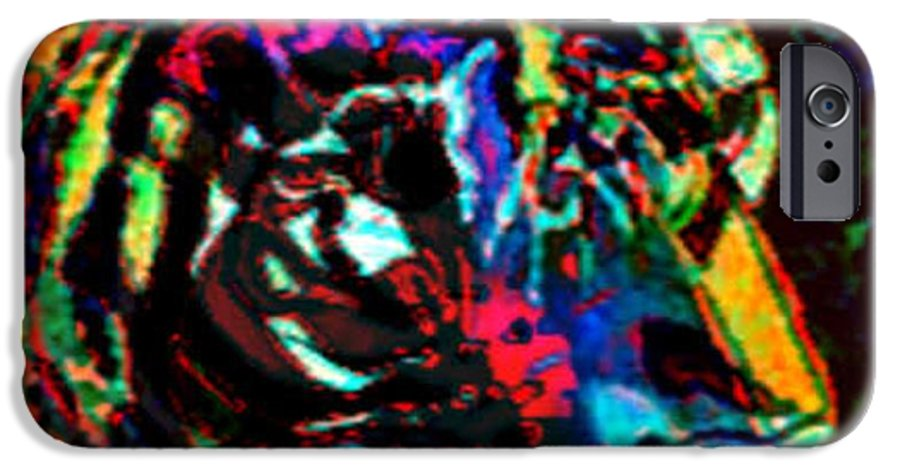 Wildlife IPhone 6 Case featuring the digital art Tiger Se by Brenda L Spencer