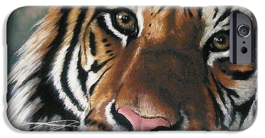 Tiger IPhone 6 Case featuring the pastel Tigger by Barbara Keith