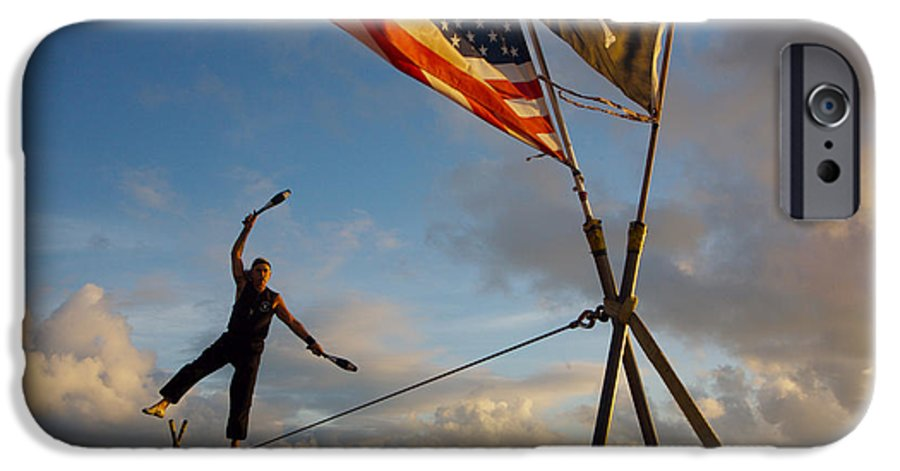 Balance IPhone 6 Case featuring the photograph Tight Rope Walker In Key West by Carl Purcell