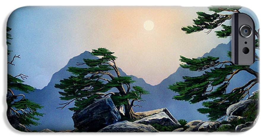 Timberline Guardians IPhone 6 Case featuring the painting Timberline Guardians by Frank Wilson